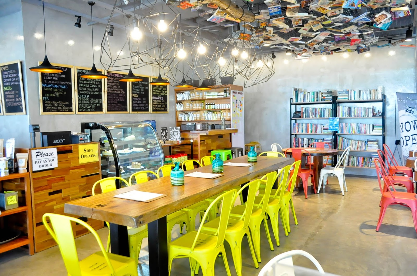 Buku buku kafe the district imus tales escapades its not only good for groups having it in the center is like an invitation to customers to gather share the table and stopboris Gallery