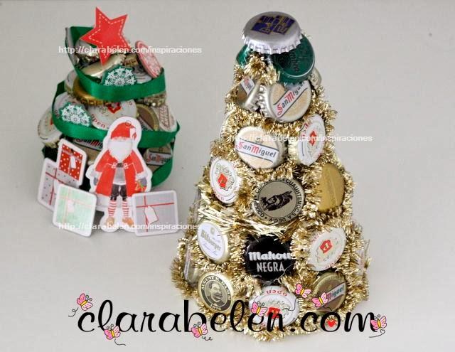 http://clarabelen.com/inspiraciones/3247/manualidades-con-reciclaje-para-navidad-arbol-de-chapas-o-corcholatas/