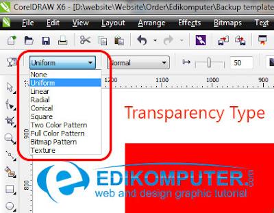 Cara membuat efek transparancy di CorelDraw X6