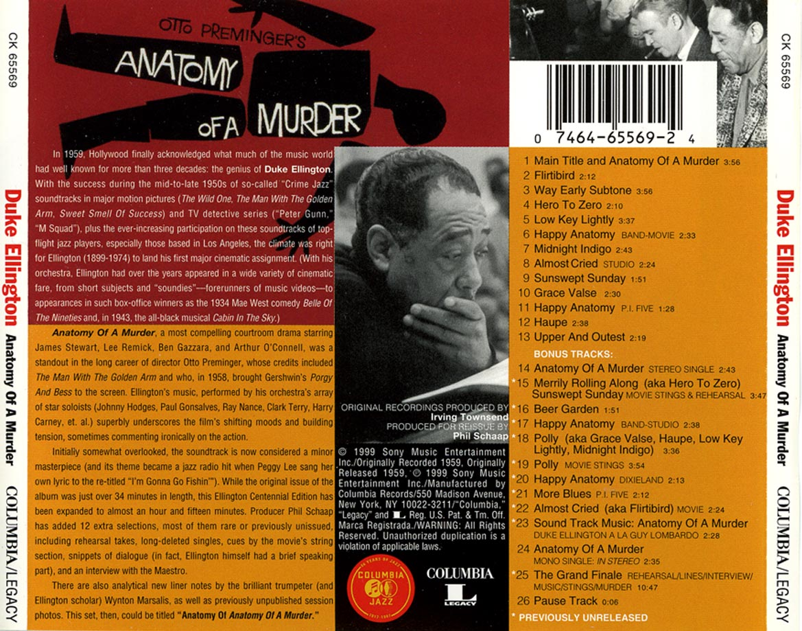 Anatomy of a Murder: historischer Soundtrack von Duke Ellington ...