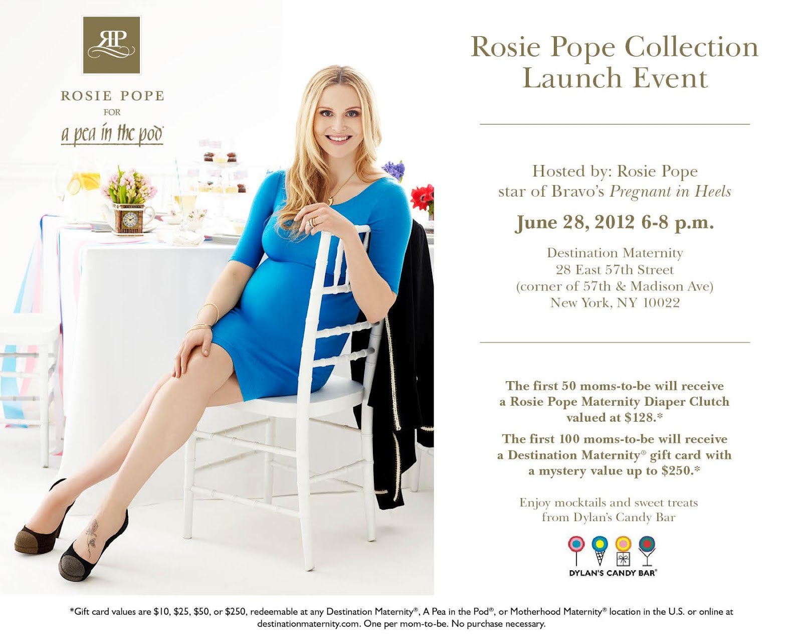 971c761a28ef2 Celebrate Rosie Pope's launch of her new collection, Rosie Pope for A Pea  in the Pod Collection™ on Thursday, June 28th from 6-8PM at the Destination  ...