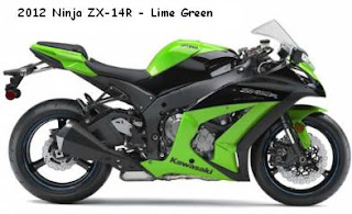 2012 Kawasaki Ninja ZX-10R Lime Green color