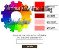 Membuat Kode Warna di Blog