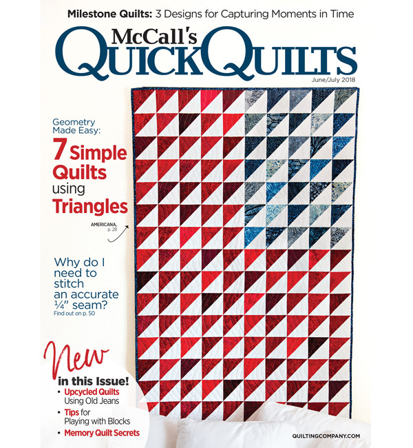 Only $3.99 ! 2018 June-July McCall's Quick Quilts (click!)