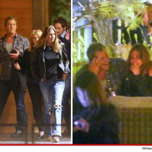 Mel Gibson and Ashley Cusato hanging out