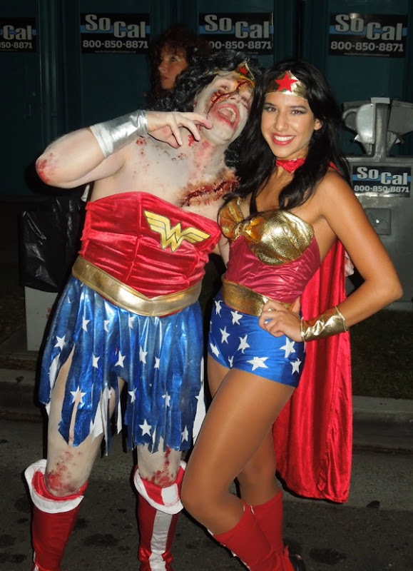 Zombie Wonder Woman West Hollywood Halloween Carnaval 2012