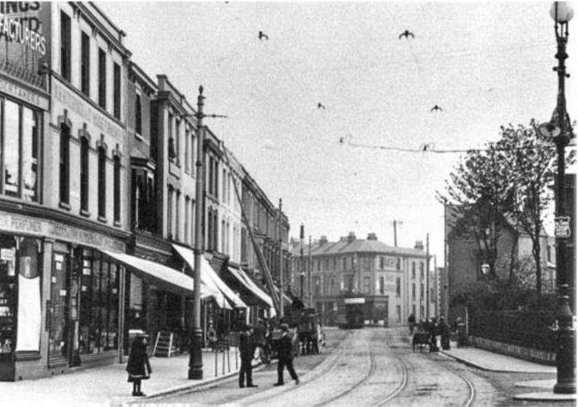Albert Road before The Hings Theatre was built