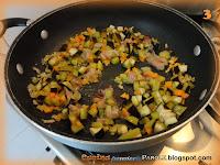 Mezzemaniche con prosciutto melanzane e carote