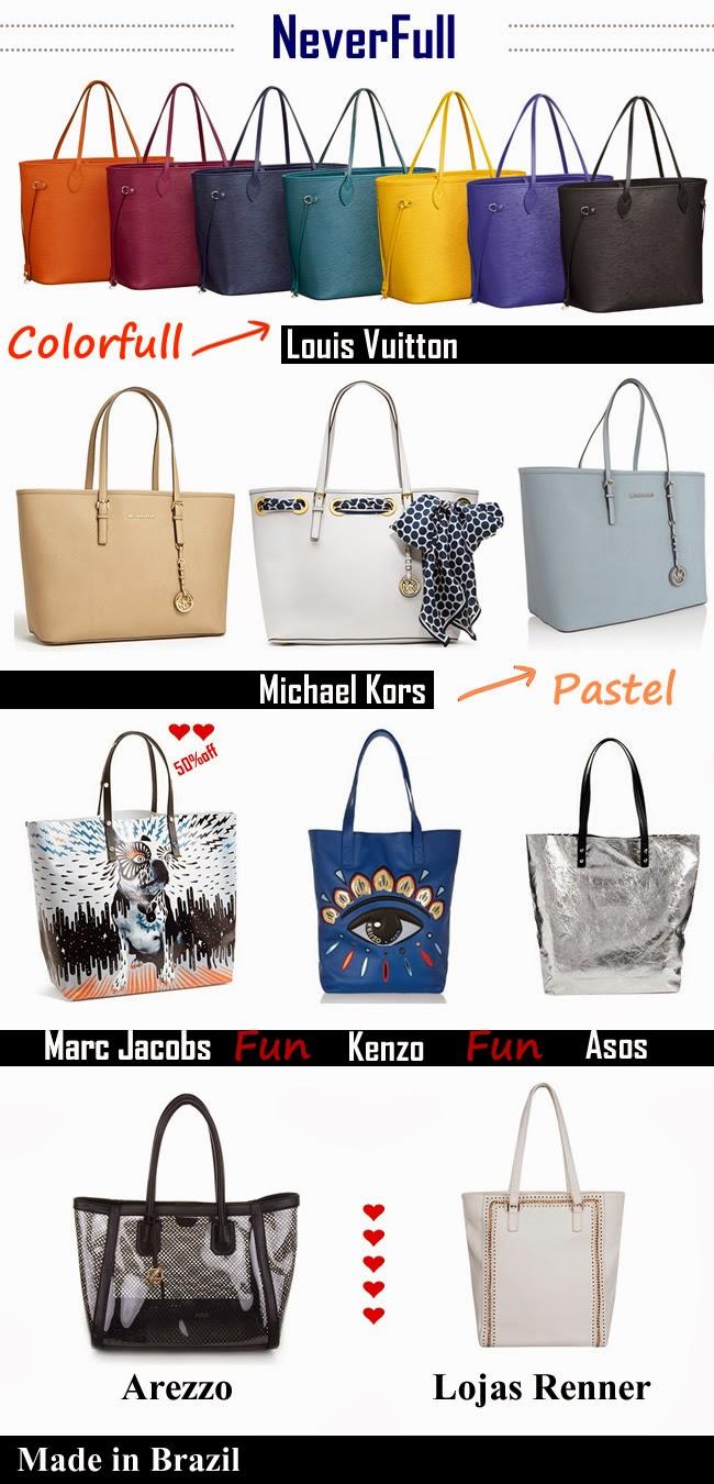 Neverfull bags Marc Jacobs Kenzo ASOS Louis Vuitton Arezzo Loja Renner