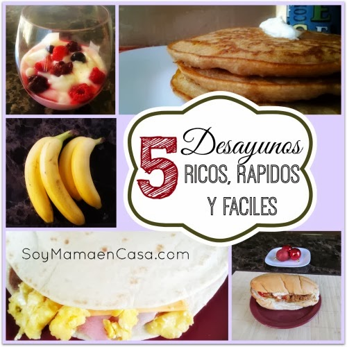 5 desayunos ricos rapidos y faciles de hacer