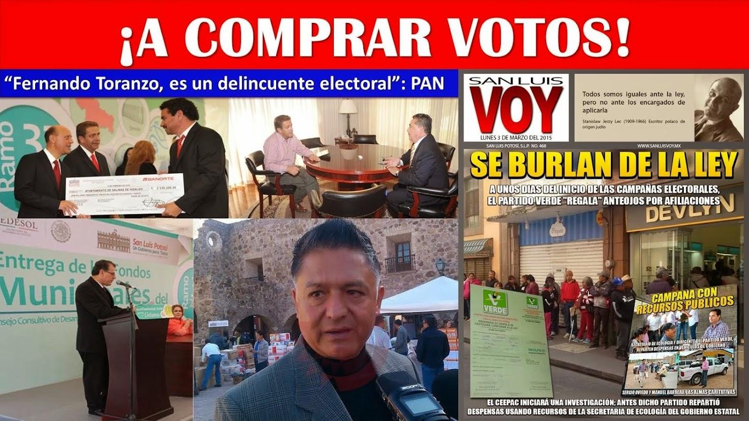 """FERNANDO TORANZO """"PROSTITUYE EL PROCESO ELECTORAL DEL AÑO 2015""""."""