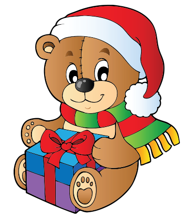 Santa Bear Sticker