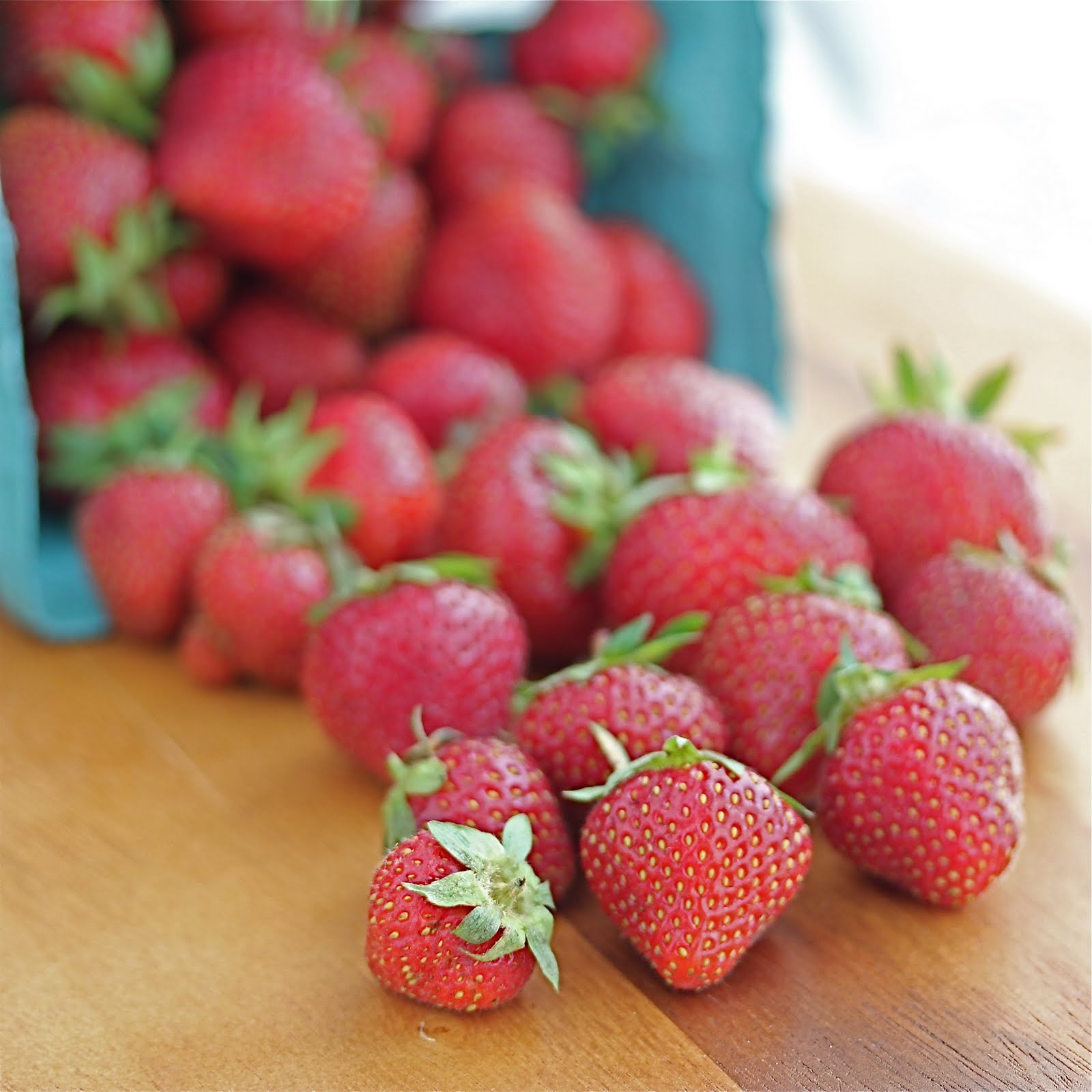 Fresh, local strawberries picked the same day were the jewel in this week's CSA box.