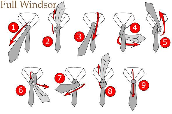 cara memakai dasi smp full windsor