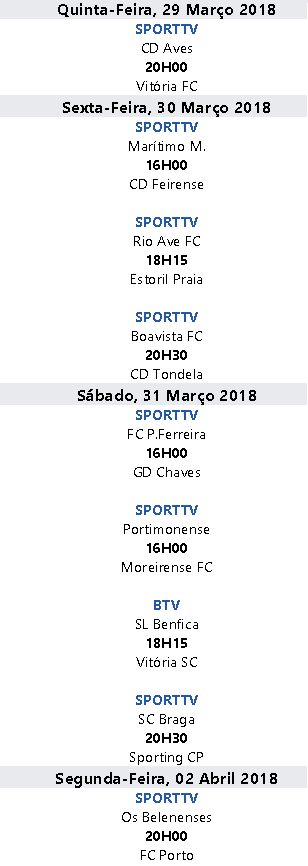 Liga Nós 2017-2018 28ºJornada