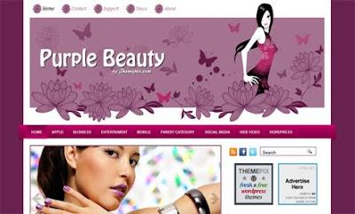 PurpleBeauty WordPress Theme