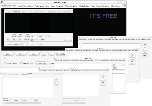 برنامج مجانى متكامل لتشغيل وتحويل وتقطيع وإصلاح جميع ملفات الوسائط المتعددة Media Cope 4.0
