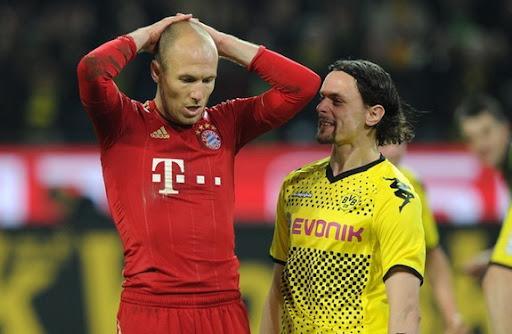 Dortmund defender Neven Subotić 'trolling' over Bayern Munich player Arjen Robben