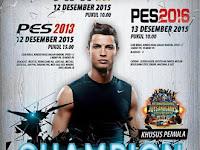 Kompetisi PES 2013 dan PES 2016 di Jogja Desember 2015
