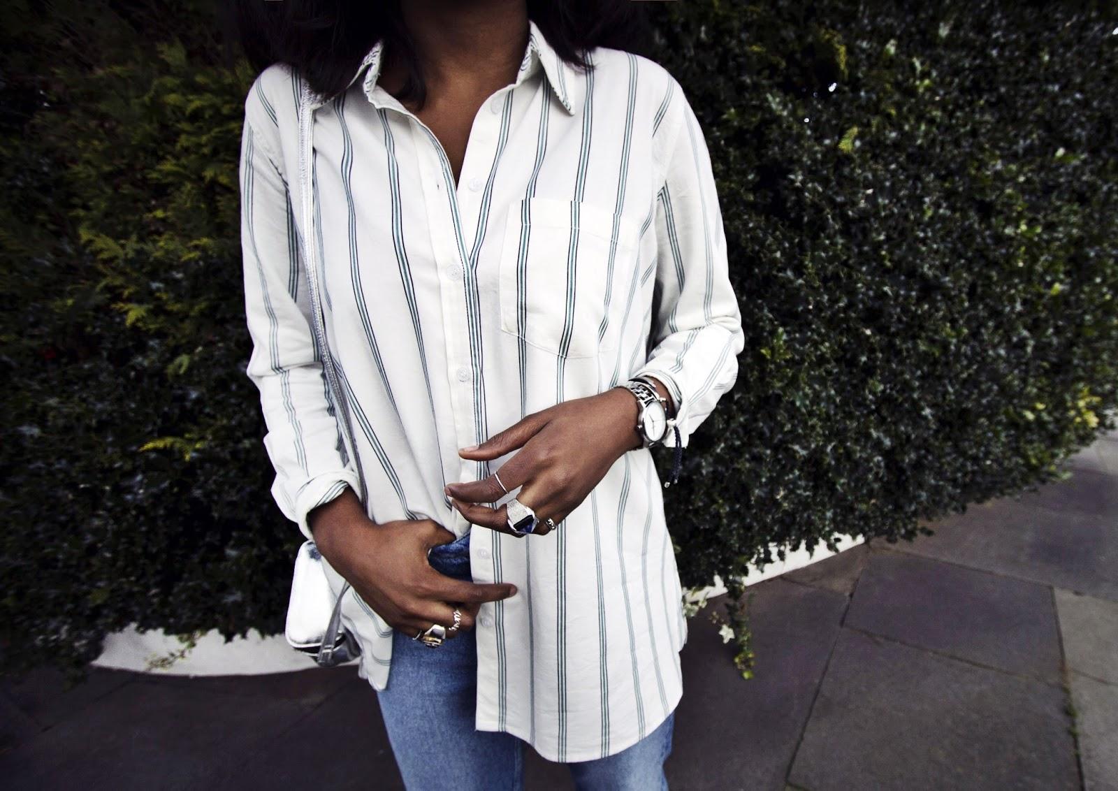 Striped White BDG Shirt