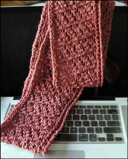 Straight Knitting Loom Scarf Pattern : Altered Scrapbooking: Rose Knit Infinity Scarf
