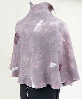 felted capelet, women clothing, wedding