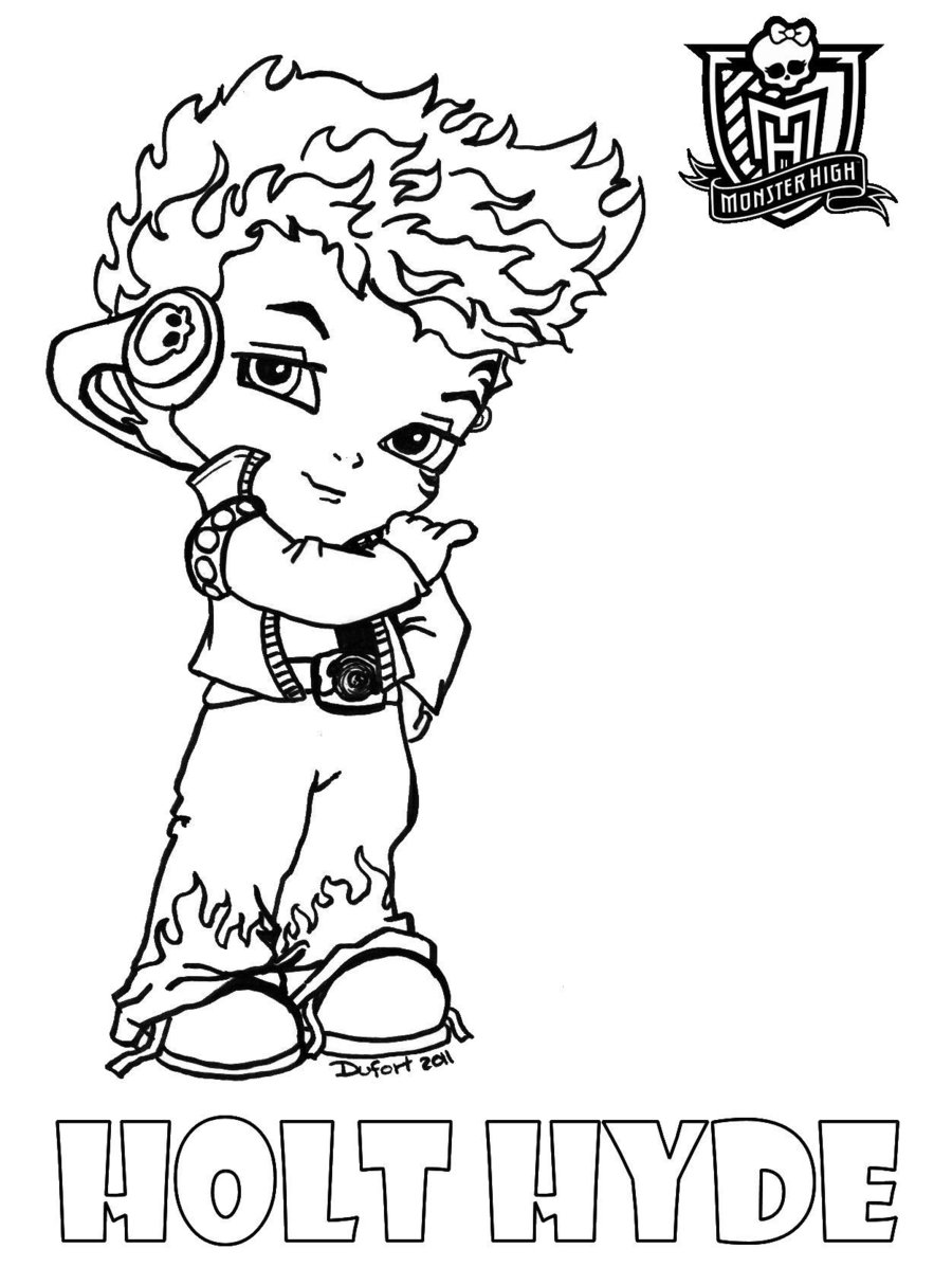 small monster high coloring pages-#9