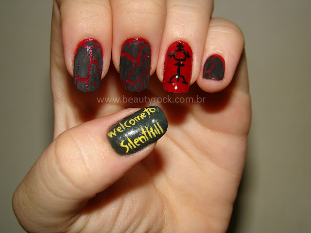Nail art Silent Hill, Unhas Halloween
