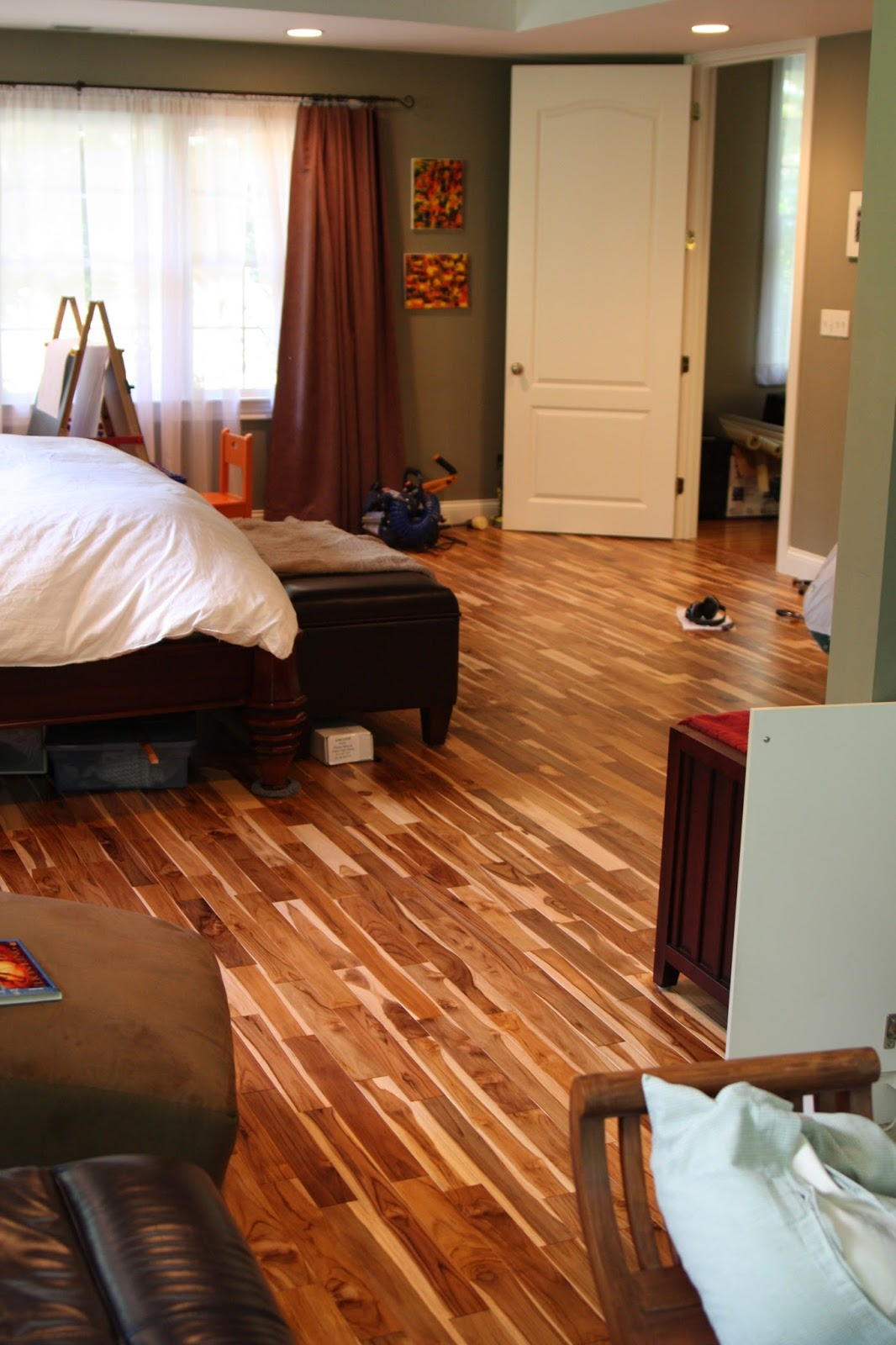 Master Bedroom Hardwood Flooring Is Nearly Finished Handyhubby