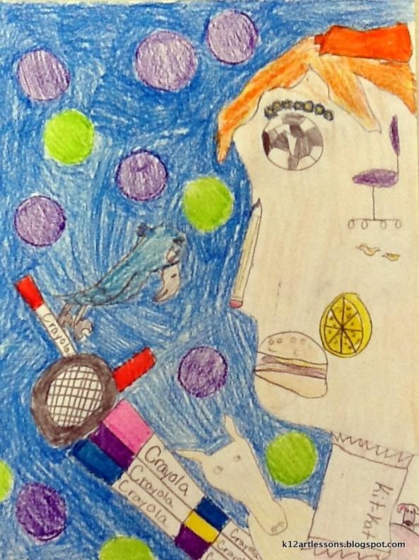 an unexpected self portrait art lesson plans for k 12