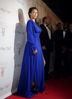 Kim Kardashian glamorous in a floor length dress