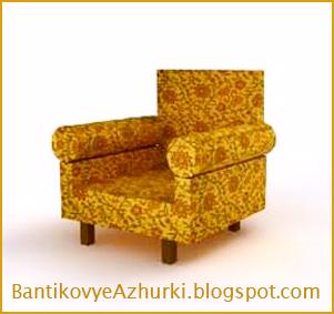 как сделать кресло для куклы из картона