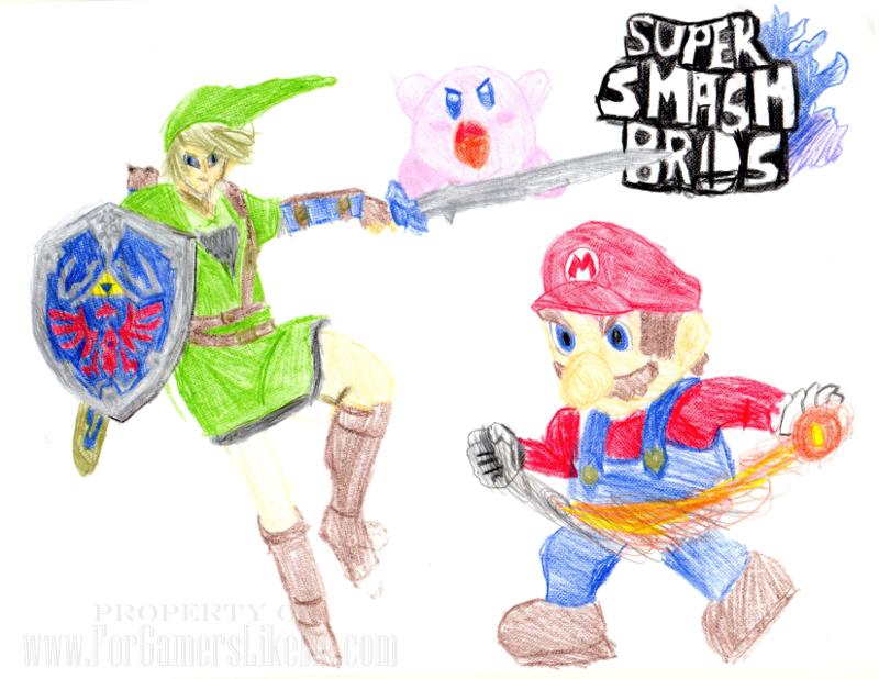 For Gamers Like Me Super Smash Bros Fan Art