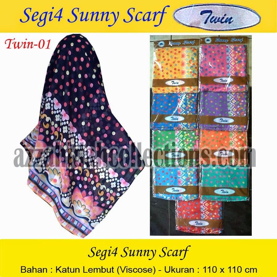 Segi Empat Sunny Scarf Twin - www.azzahidahcollections.com