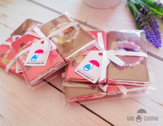 detalles chocolatinas de comunión Gota Creativa