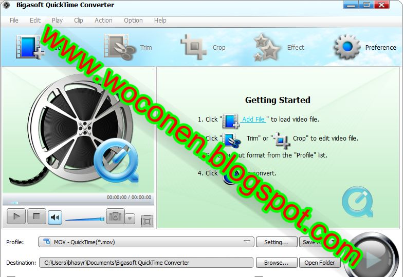 QuickTime movie conversion tool to help you easily convert QuickTime mov
