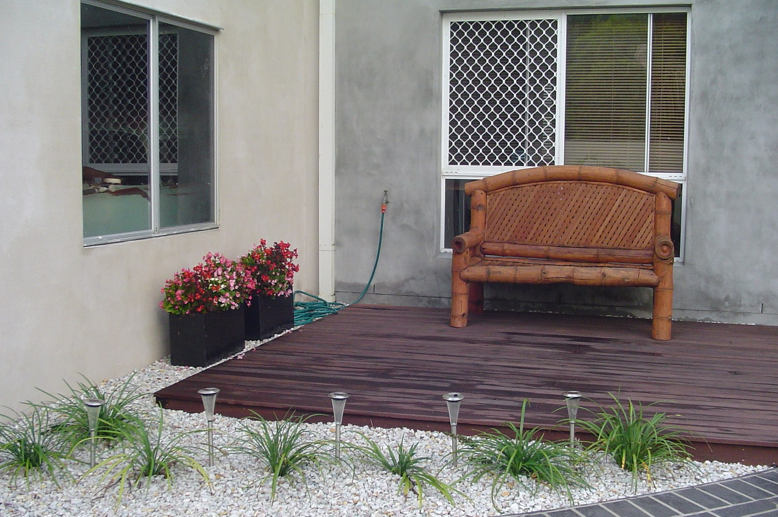 Seaside Boutique Front Yard - Timber Deck
