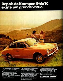 propaganda VW Karmann Ghia TC - 1971