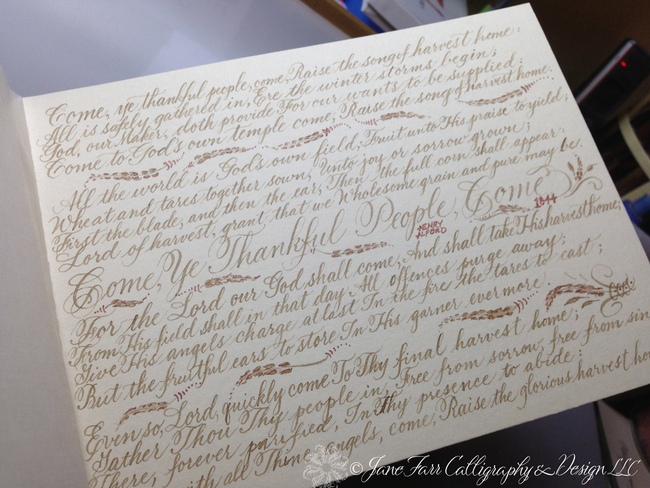A place to flourish calligraphy friday hymn