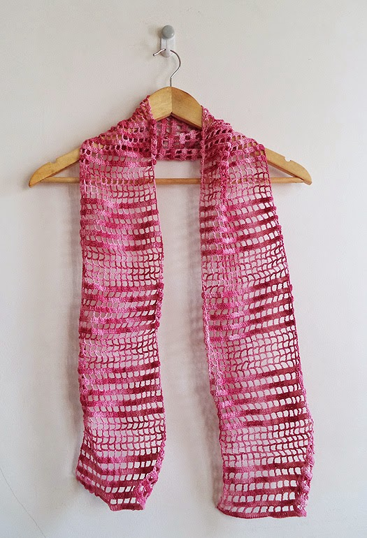 Art Li and Stuff - Crocheted Thread Lace Scarf