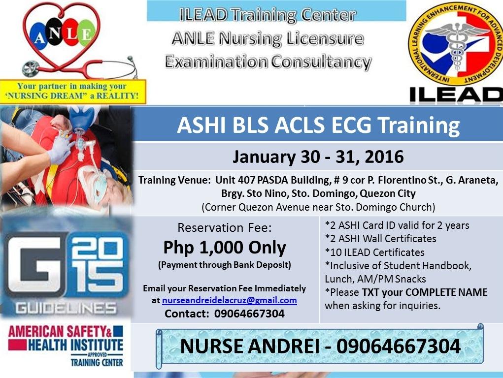 It\'s RNdrei: BLS ACLS ECG Training - Quezon City