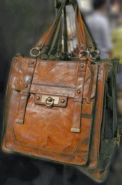 Frye Cameron Antique Leather Cognac Satchel