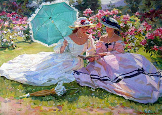 Cuadros Impresionistas Mujeres Paraguas