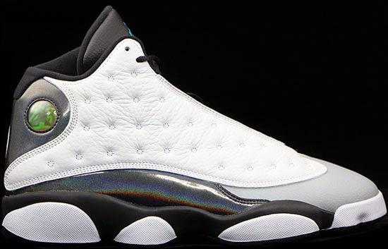 ajordanxi your  1 source for sneaker release dates  air jordan 13 retro  u0026quot hologram u0026quot  white  black