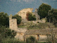 El conjunt de la masoveria i el Castell d'Esparreguera