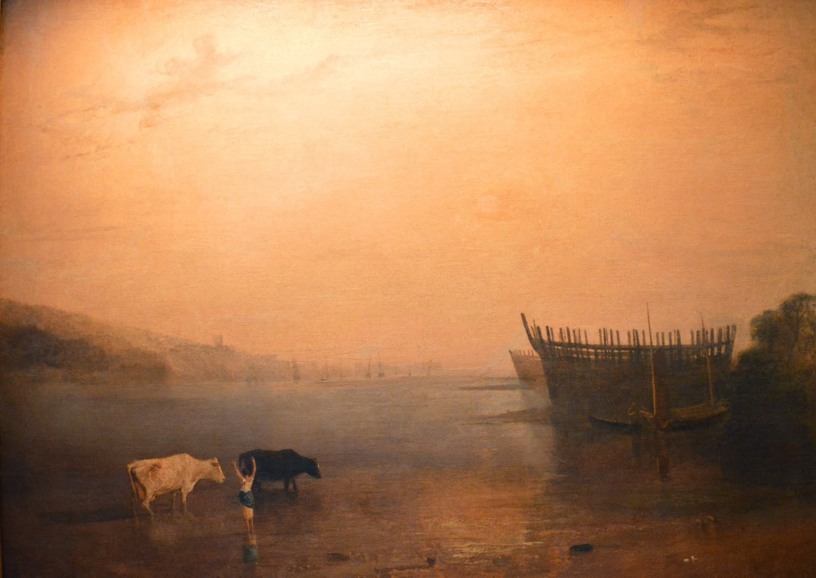 Turner, art, painting, mist, colours, sunset, rural, cows, Petworth House and Garden, inside, interior, visit, review, National Trust, history, UK, England, Sussex, historical property, old building, culture, day trip, photo, photograph, Percy Family, Elizabeth Seymour, Duchess of Somerset, Earl of Egremount, Wyndham