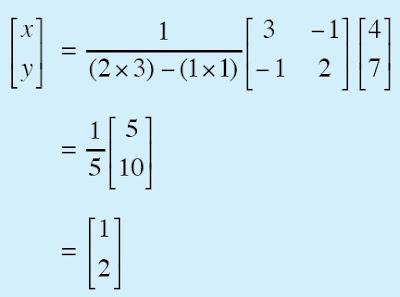 Penyelesaian Sistem Persamaan Linear dengan Matriks