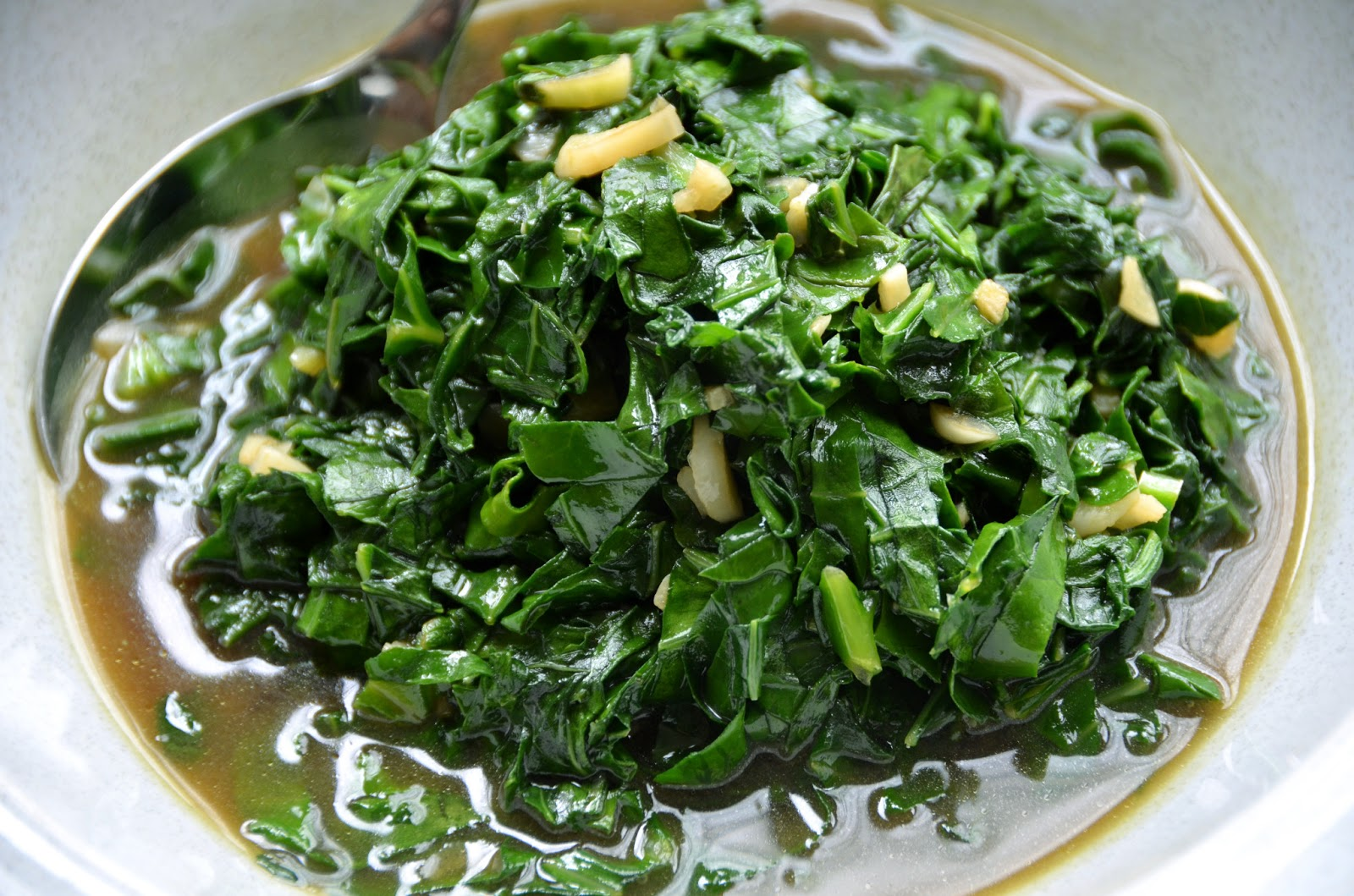 Thanh's Kitchen: Sautéed Chinese Broccoli and Garlic in ...