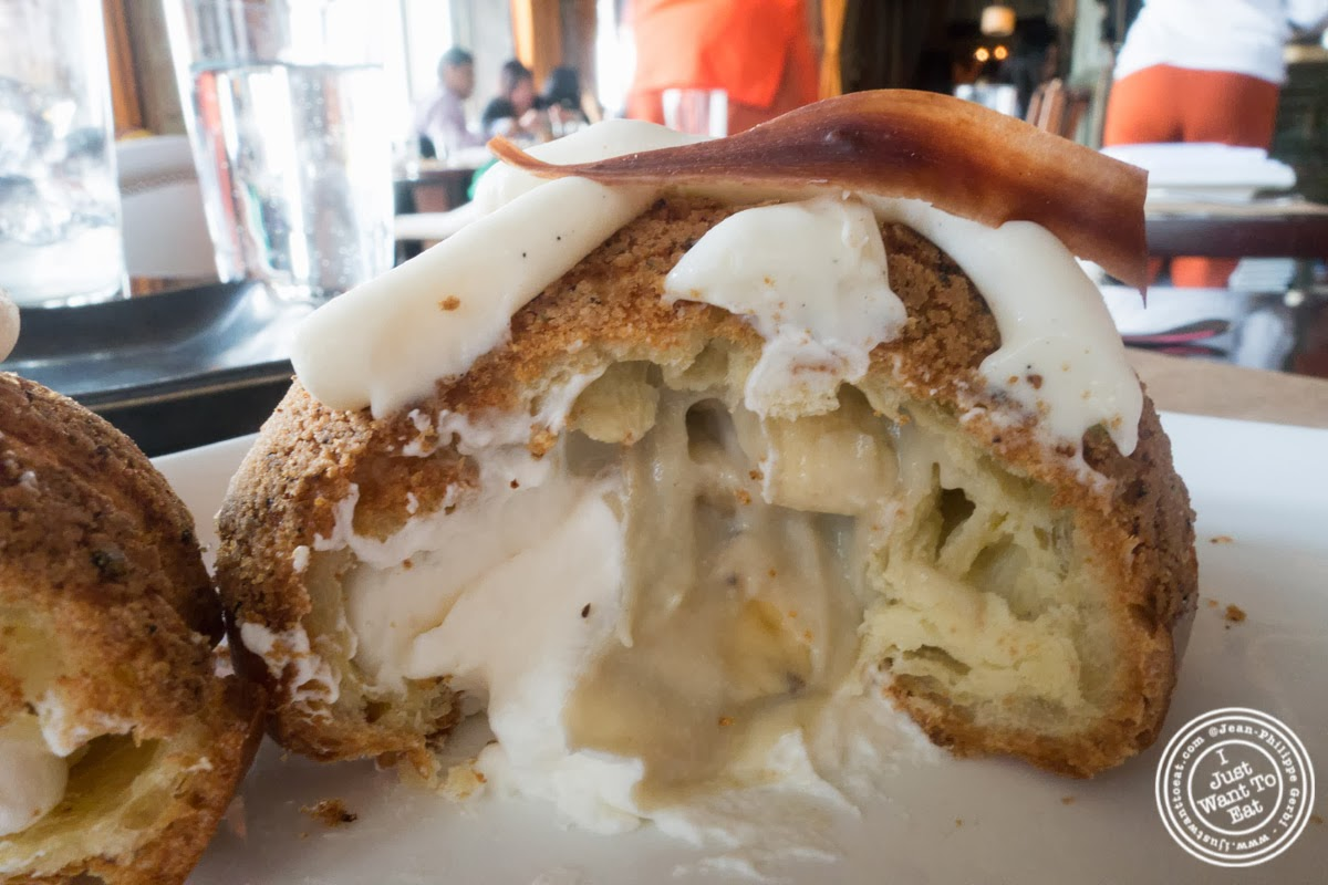 image of banana cream puff at Spice Market in the Meatpacking District, NYC, New York