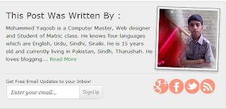 Cara Menampilkan Biografi Penulis Di Blogger